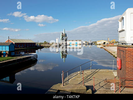 Goole Docks, East Yorkshire, England UK - Stock Image
