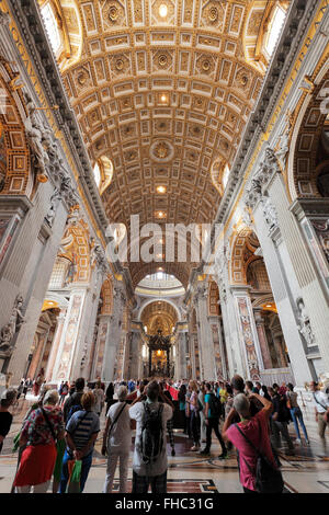 The St. Peters Basilica in Rome, Vatican - Stock Image