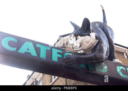 The Catford Centre sign, Rushey Green, Catford, London Borough of Lewisham, Greater London, England, United Kingdom - Stock Image