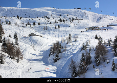 Ski area at the mountain Paganella, Trentino, Italy - Stock Image