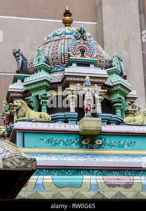 Sri Mahamariamman Hindu Temple Decoration, Kuala Lumpur, Malaysia. - Stock Image