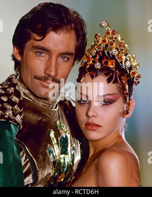 FLASH GORDON 1980 Universal film with Timothy Dalton and Ornella Muti - Stock Image