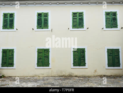 A beautiful old building in Tivat, Montenegro. - Stock Image
