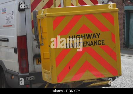 Highway maintenance vehicle. - Stock Image