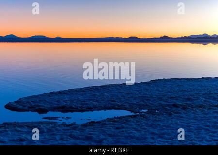 Uyuni salt flat, Salar de Uyuni, near Tahua, Potosi department, Bolivia - Stock Image