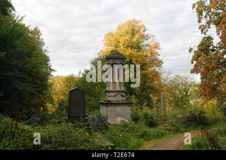 The Parker Memorial in the General cemetery Sheffield, England UK - Stock Image