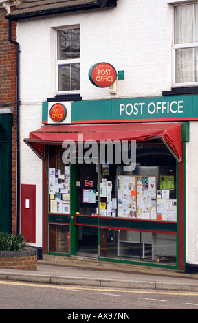 rural village post office at Woburn Sands old post box Save our post office - Stock Image