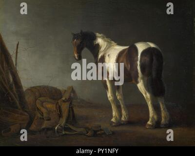 Abraham van Calraet - horse with a saddle. - Stock Image
