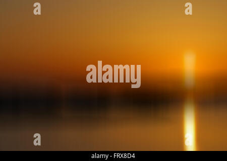 Golden Orange Sunset Rhosneigr Anglesey Wales - Stock Image