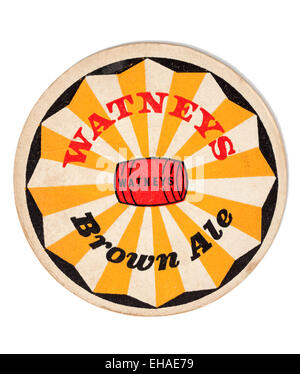 Vintage Beermat Advertising Watneys Brown Ales - Stock Image