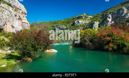 The Krka River at Roski Slap, Krka National Park, Dalmatia, Croatia - Stock Image