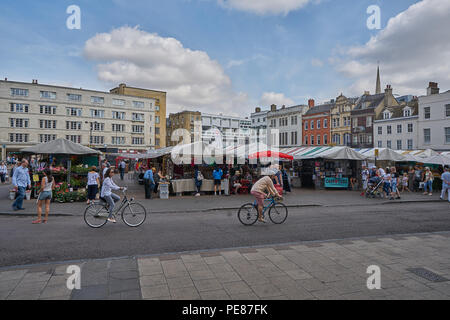 market hill cambridge - Stock Image