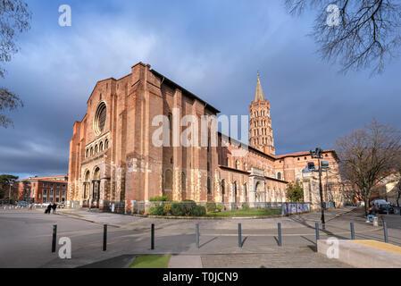 Basilica Saint-Sernin de Toulouse in Toulouse, Occitanie, France - Stock Image