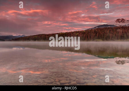 Patricia Lake Jasper Alberta - Stock Image