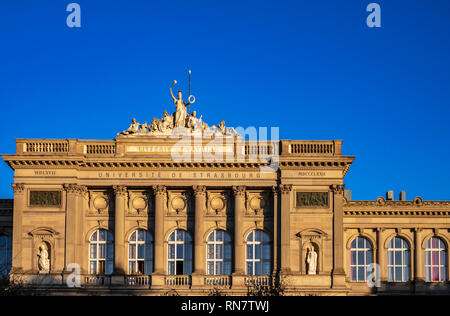 Strasbourg, Alsace, France, Palais Universitaire, University building, late afternoon light, - Stock Image