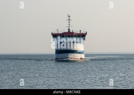 Sejrø ferry at sea - Stock Image