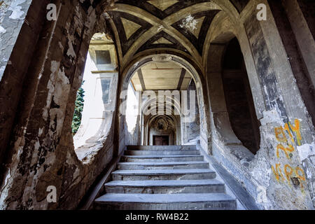 Naples (Italy) - Sanfelice Palace in the rione Sanità was built in 1724 by the architect Ferdinando Sanfelice - Stock Image