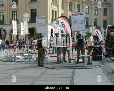 Germany Munich Karlsplatz Stachus right wing group PEDIGA protest - Stock Image