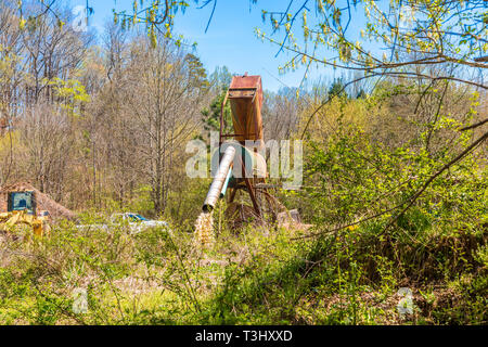 Dredging Machinery in Forest - Stock Image