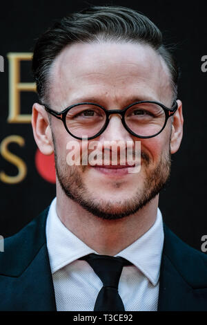 Kevin Clifton poses on the red carpet at the Olivier Awards on Sunday 7 April 2019 at Royal Albert Hall, London. . Picture by Julie Edwards. - Stock Image