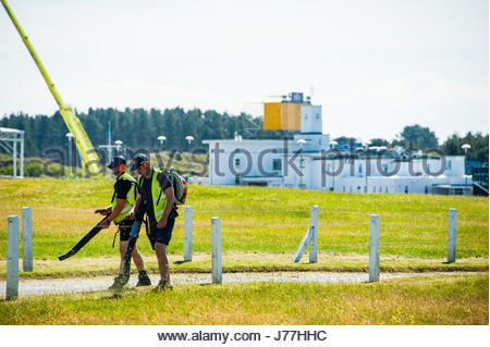 Birkdale, Merseyside, UK. 23rd May, 2017. UK Weather. Sunshine at Royal Birkdale in May, as preparations for the - Stock Image
