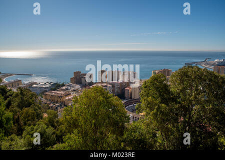 MALAGA, ANDALUSIA / SPAIN - OCTOBER 05 2017: VIEW OF THE CITY OF MALAGA - Stock Image