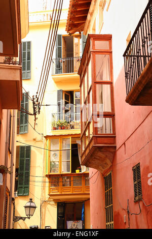 Houses in the Lonja of Palma de Mallorca - Stock Image