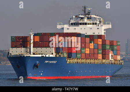 TRF Partici leaving the port of Hamburg - Stock Image