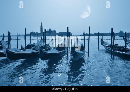 Venice landscape, Italy, at moonlight  in summer - Stock Image