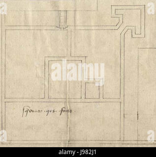 Yarmouth castle plan 1559 - Stock Image