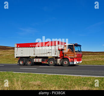 I.D.Bailey & Son, Farmers and Agricultural Merchants HGV. M6 motorway Southbound carriageway, Shap, Cumbria, England, United Kingdom, Europe. - Stock Image