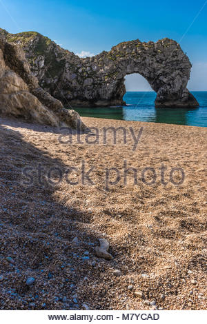 Durdle Dor on the Dorset Coast - Stock Image