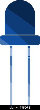 Light-emitting Diode. Flat Color Ladder Design. Vector Illustration. - Stock Image