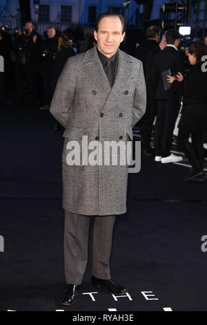 London, UK. 12th Mar, 2019. LONDON, UK. March 08, 2019: Ralph Fiennes arriving for the premiere of 'The White Crow' at the Curzon Mayfair, London. Picture: Steve Vas/Featureflash Credit: Paul Smith/Alamy Live News - Stock Image