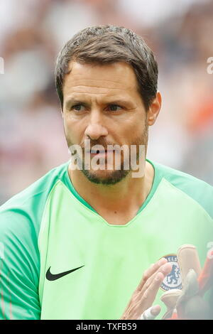 Madrid, Spain. 23rd June, 2019. Carlo Cudicini (Chelsea) Football/Soccer : Friendly 'Corazon Classic Match 2019' between Real Madrid Leyendas 5-4 Chelsea Legends at the Santiago Bernabeu Stadium in Madrid, Spain . Credit: Mutsu Kawamori/AFLO/Alamy Live News - Stock Image