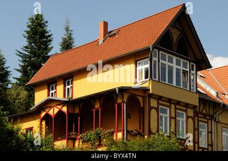 Mehrfamilienhaus in Wernigerode, Sachsen-Anhalt, Deutschland. - Multiple-family dwelling in Wernigerode, Saxony - Stock Image