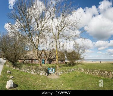 Frisean house, Keitum, Sylt, Schleswig-Holstein, Germany, Europe - Stock Image