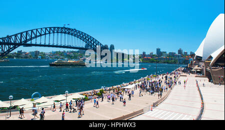 Sydney Harbour Bridge and Opera House Australia - Stock Image