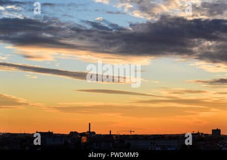 Panoramic view of Vilnius at sunset, Lithuania - Stock Image