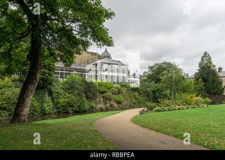 Pavilion Gardens in Buxton, Derbyshire, UK - Stock Image