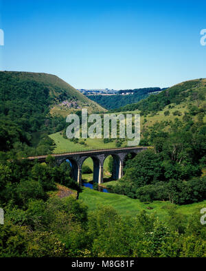 Monsal Dale and viaduct, near Bakewell, Derbyshire England UK - Stock Image