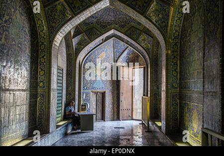 Masjed-e Sheikh Lotfollah Mosque,  Imam Square, Esfahan, Iran - Stock Image