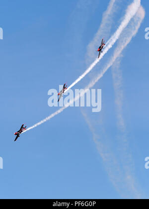 The Blades aerobatic team at Eastbouurne Airshow 2018 - Stock Image