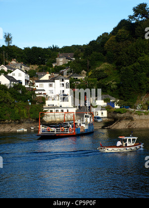 Ferry over River Fowey, Cornwall, England - Stock Image