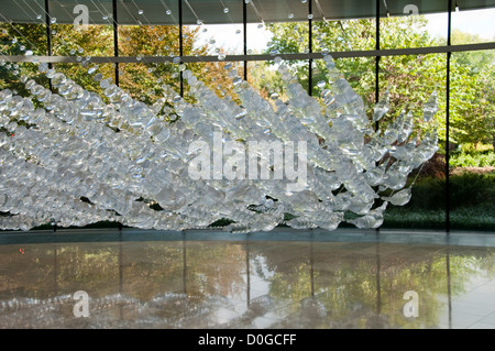 USA, Indiana, Indianapolis, Glass sculpture at Indiana Museum of Art - Stock Image