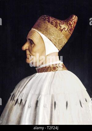 Gentile Bellini, Doge Giovanni Mocenigo (1409-1485), painting, 15th Century - Stock Image