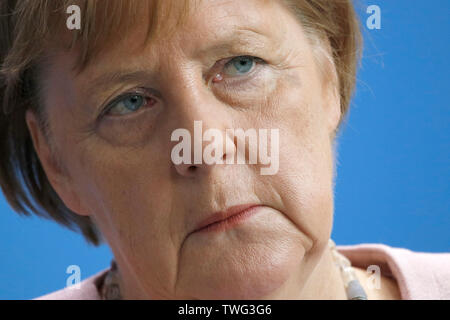 Angela Merkel - Treffen der dt. Bundeskanzlerin mit dem ukrainischen Praesidenten, Bundeskanzleramt, 18. Juni 2019, Berlin/ Angela Merkel - meeting of - Stock Image