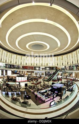 Dubai Mall, Armani Bar, Modern architecture, - Stock Image