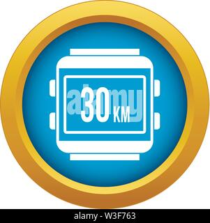 Speedometer bike icon blue vector isolated - Stock Image