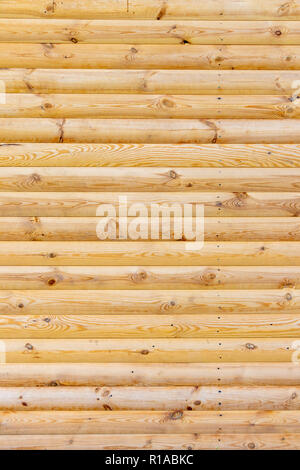 wooden background of fresh logs for design - Stock Image